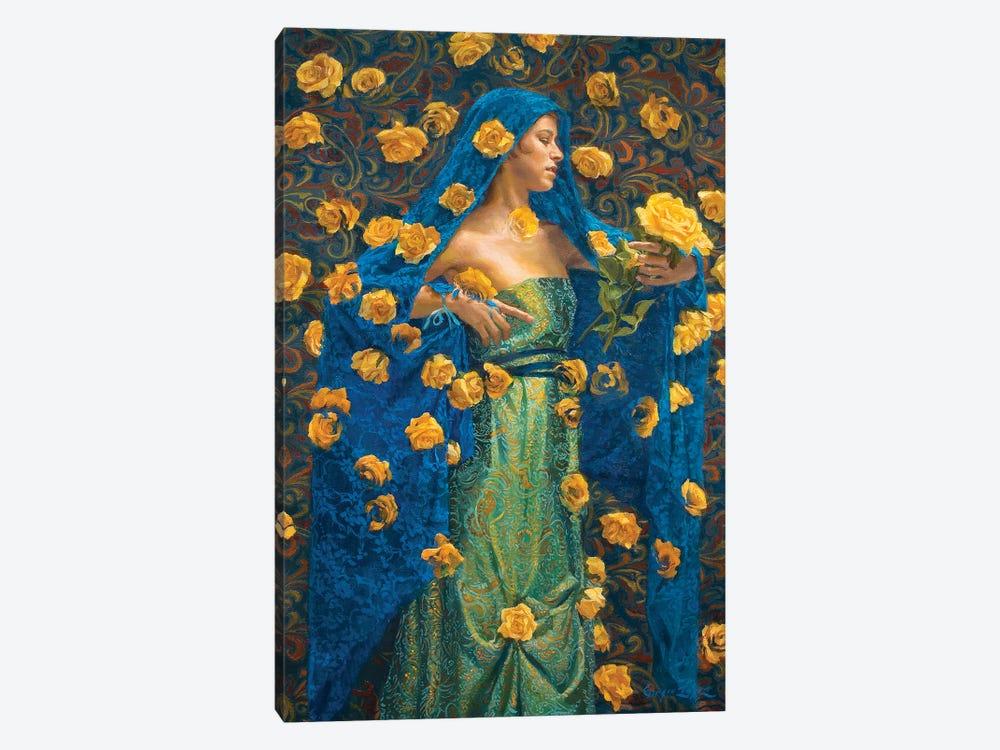 Interbloom - Silk Rain by Sergio Lopez 1-piece Canvas Art Print