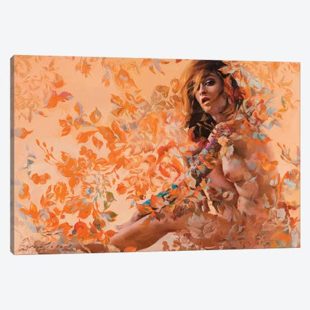 Autumn Damask Canvas Print #SER1} by Sergio Lopez Canvas Wall Art