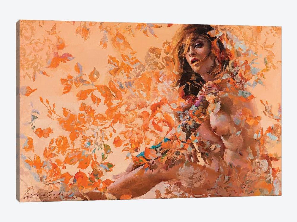 Autumn Damask by Sergio Lopez 1-piece Canvas Wall Art