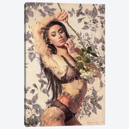 Painted Roses - Colorbreak Canvas Print #SER24} by Sergio Lopez Canvas Artwork