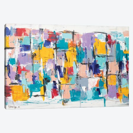 Happy Squares Canvas Print #SEY1} by Shirly Maimon Art Print
