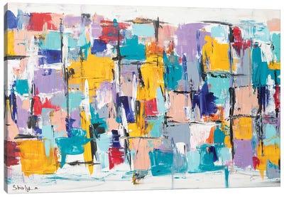 Happy Squares Canvas Art Print