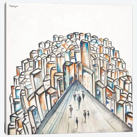 Into The City Canvas Print #SEY29} by Shirly Maimon Canvas Art