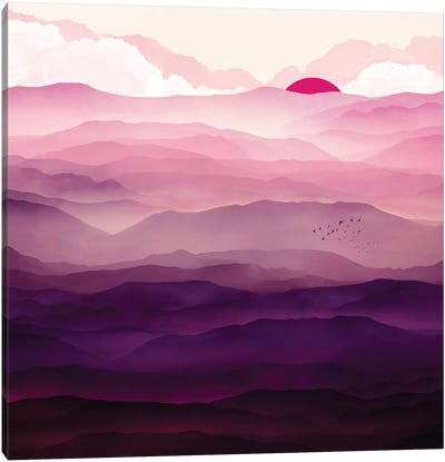 Ultra Violet Day Canvas Art Print