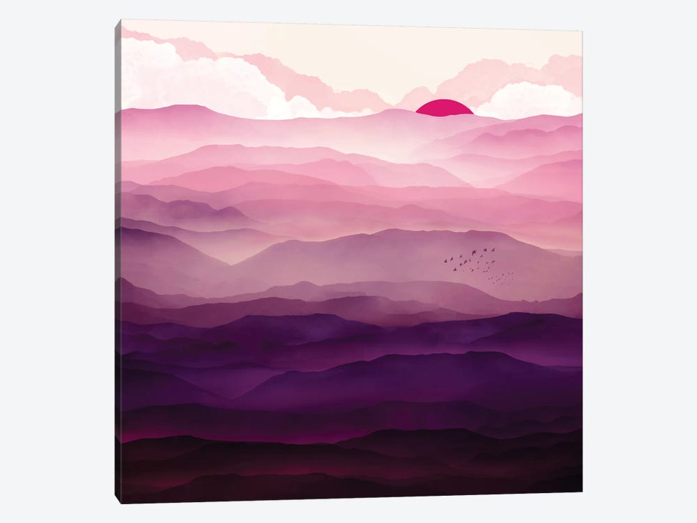 Ultra Violet Day by SpaceFrog Designs 1-piece Canvas Art