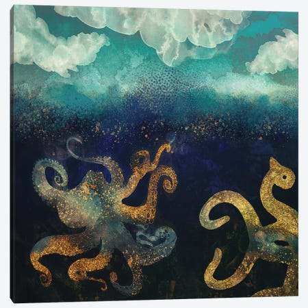 Underwater Dream II Canvas Print #SFD103} by SpaceFrog Designs Canvas Artwork