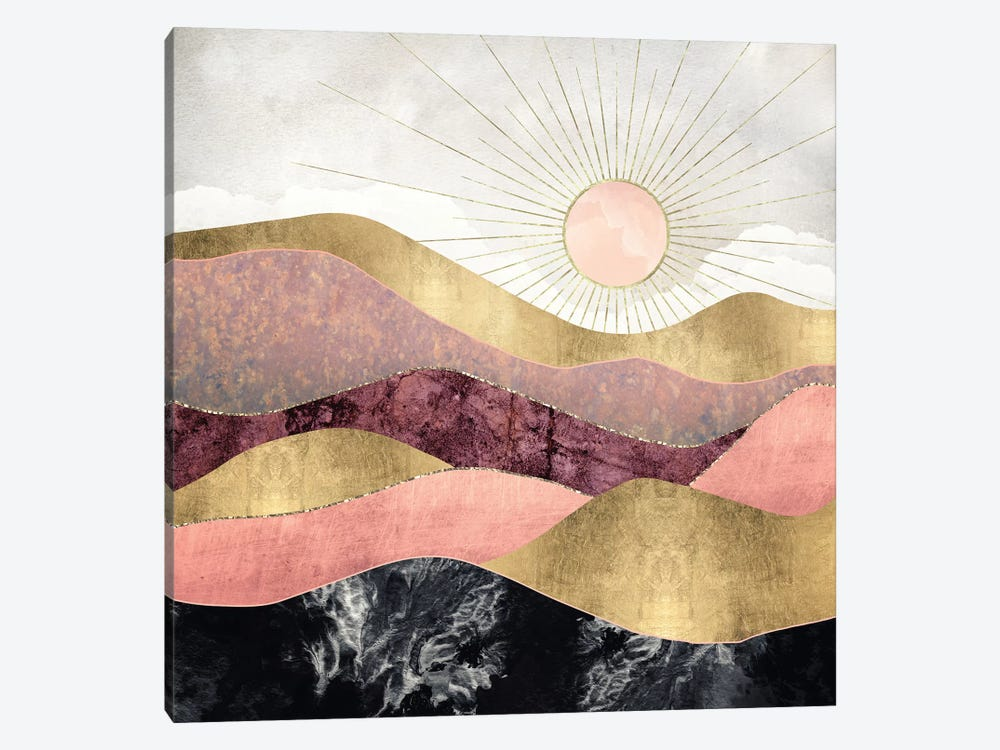 Blush Sun by SpaceFrog Designs 1-piece Canvas Wall Art