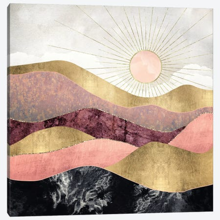 Blush Sun Canvas Print #SFD10} by SpaceFrog Designs Canvas Artwork