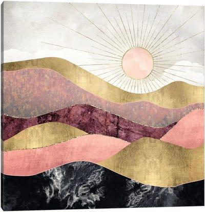 Blush Sun Canvas Art Print