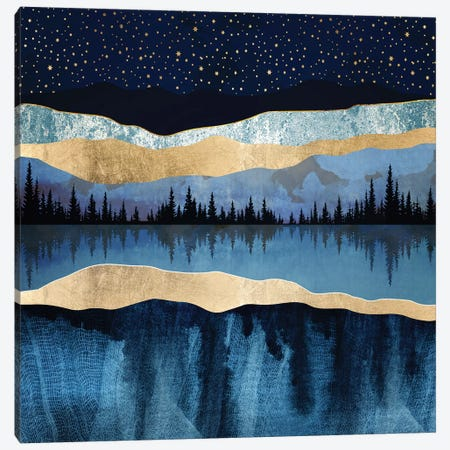 Midnight Lake Canvas Print #SFD114} by SpaceFrog Designs Canvas Artwork
