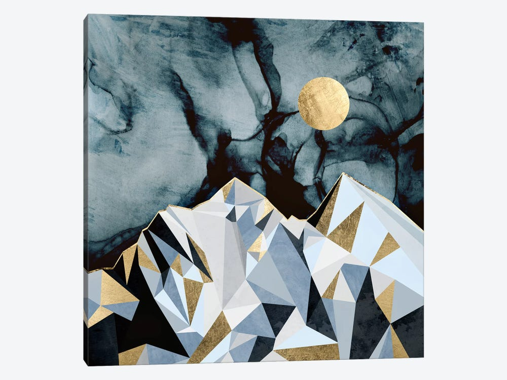 Midnight Peaks by SpaceFrog Designs 1-piece Canvas Print
