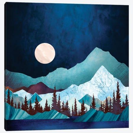 Moon Bay Canvas Print #SFD119} by SpaceFrog Designs Art Print