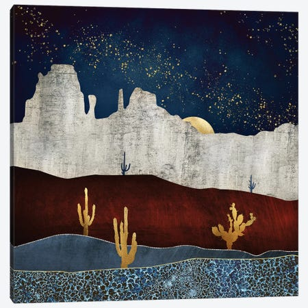 Moonlit Desert Canvas Print #SFD120} by SpaceFrog Designs Canvas Artwork