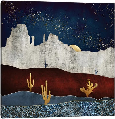 Moonlit Desert Canvas Art Print