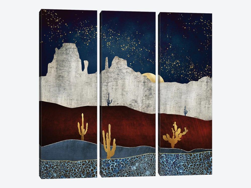 Moonlit Desert by SpaceFrog Designs 3-piece Canvas Art