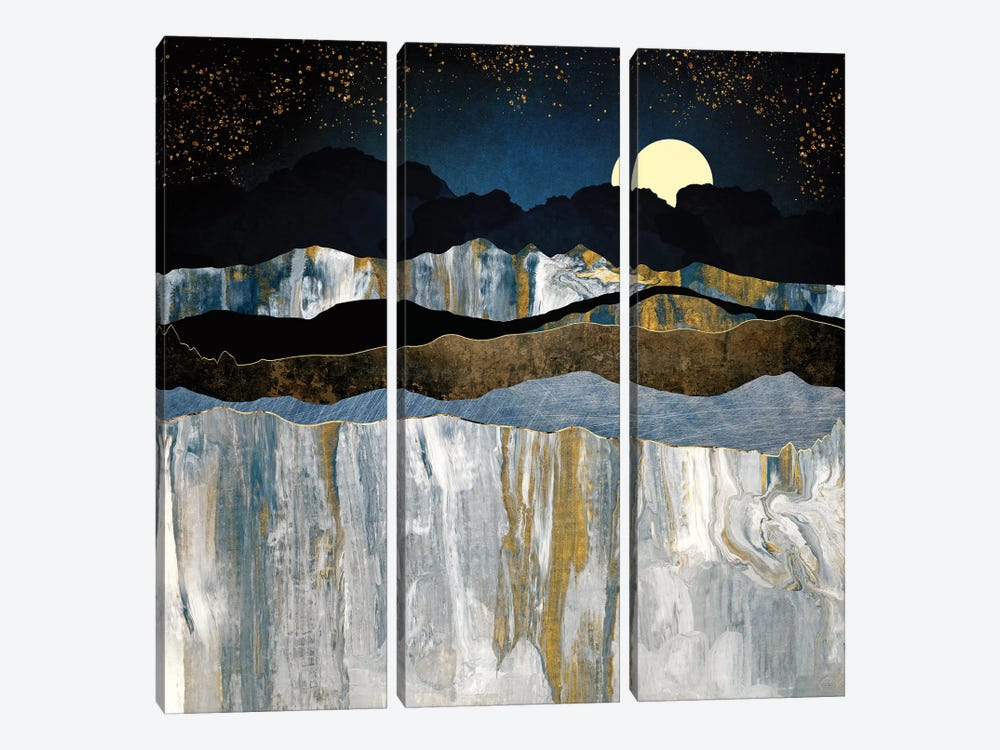 Painted Mountains by SpaceFrog Designs 3-piece Canvas Print