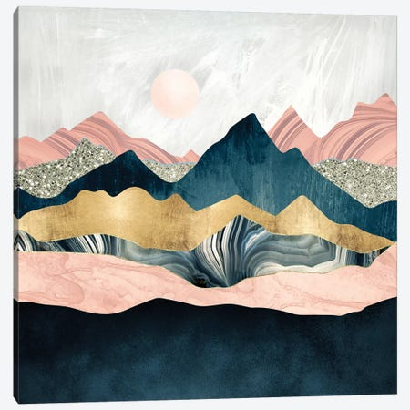 Plush Peaks Canvas Print #SFD123} by SpaceFrog Designs Canvas Wall Art