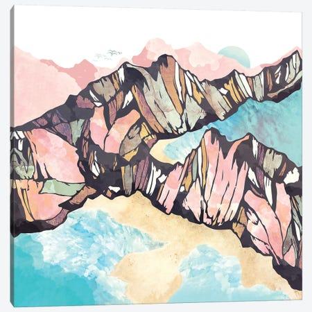 Solitary Beach Canvas Print #SFD124} by SpaceFrog Designs Canvas Art Print