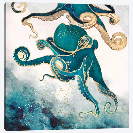 Underwater Dream V Canvas Print #SFD125} by SpaceFrog Designs Canvas Art Print