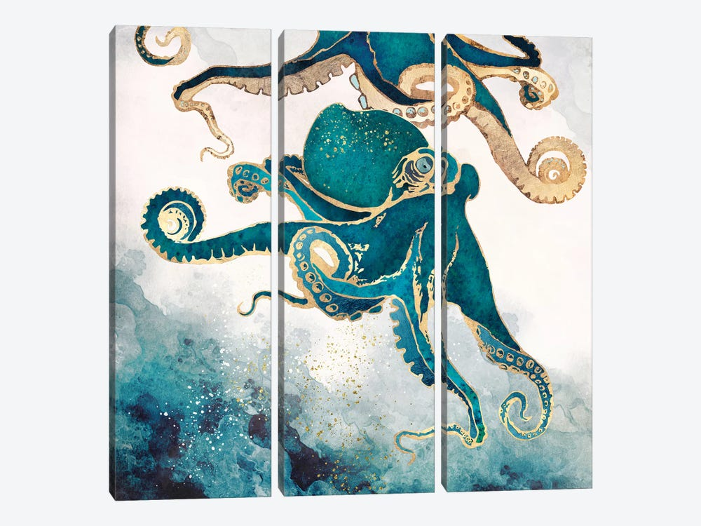 Underwater Dream V by SpaceFrog Designs 3-piece Canvas Art Print
