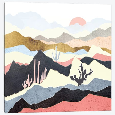 Desert Summer Canvas Print #SFD128} by SpaceFrog Designs Canvas Wall Art