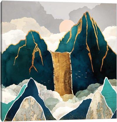 Golden Waterfall Canvas Art Print