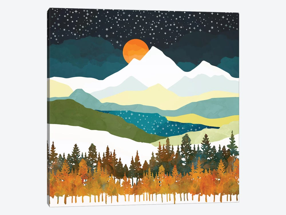 Winters Night by SpaceFrog Designs 1-piece Canvas Artwork