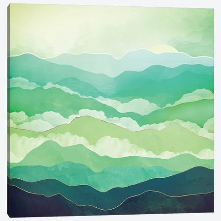 Emerald Spring Canvas Print #SFD142} by SpaceFrog Designs Canvas Wall Art