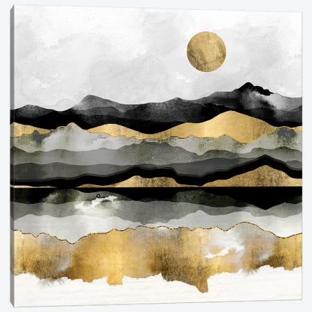 Golden Spring Moon Canvas Print #SFD143} by SpaceFrog Designs Canvas Wall Art