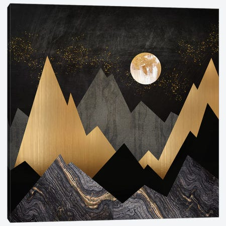 Metallic Night Canvas Print #SFD144} by SpaceFrog Designs Canvas Print