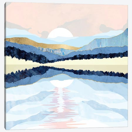 Winter Reflection Canvas Print #SFD149} by SpaceFrog Designs Canvas Artwork