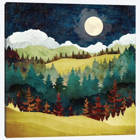 Autumn Moon Canvas Print #SFD151} by SpaceFrog Designs Art Print