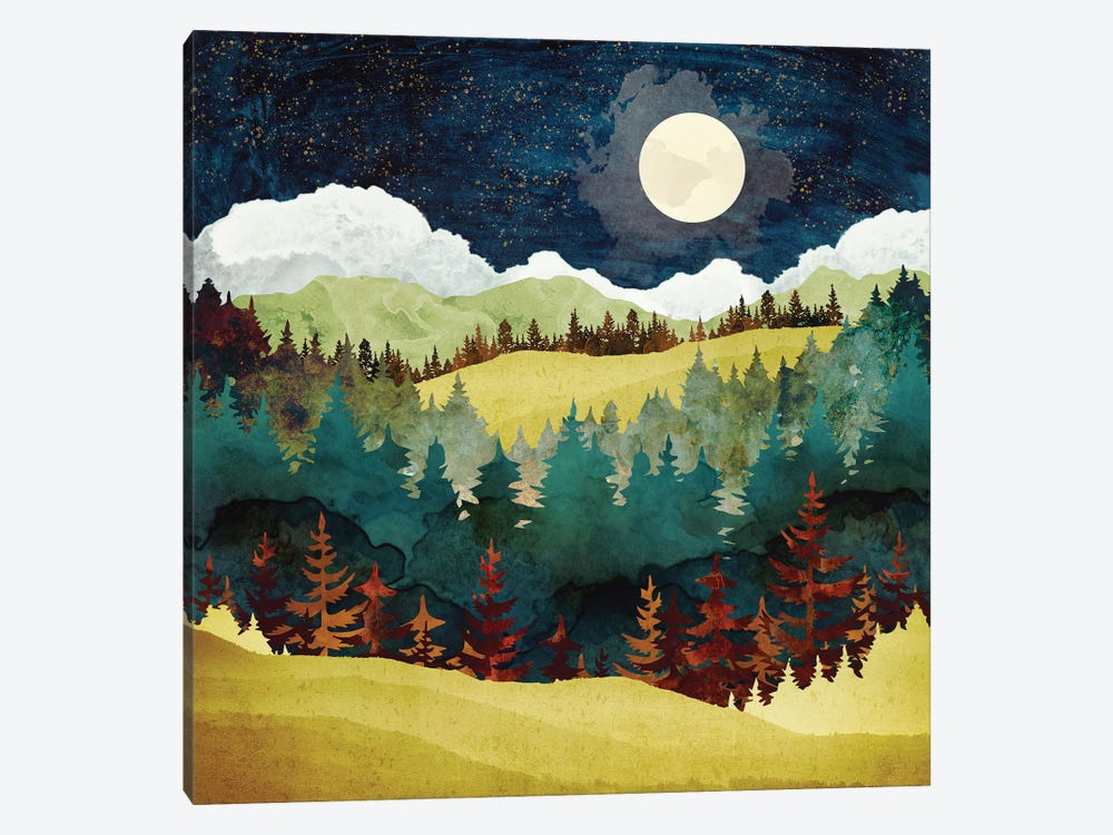 Autumn Moon by SpaceFrog Designs 1-piece Canvas Wall Art