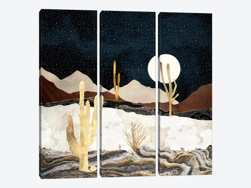Desert View by SpaceFrog Designs 3-piece Canvas Print