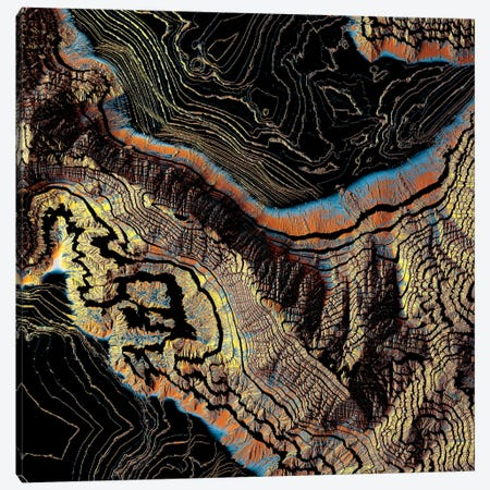 Golden Canyons 3-Piece Canvas #SFD163} by SpaceFrog Designs Canvas Artwork