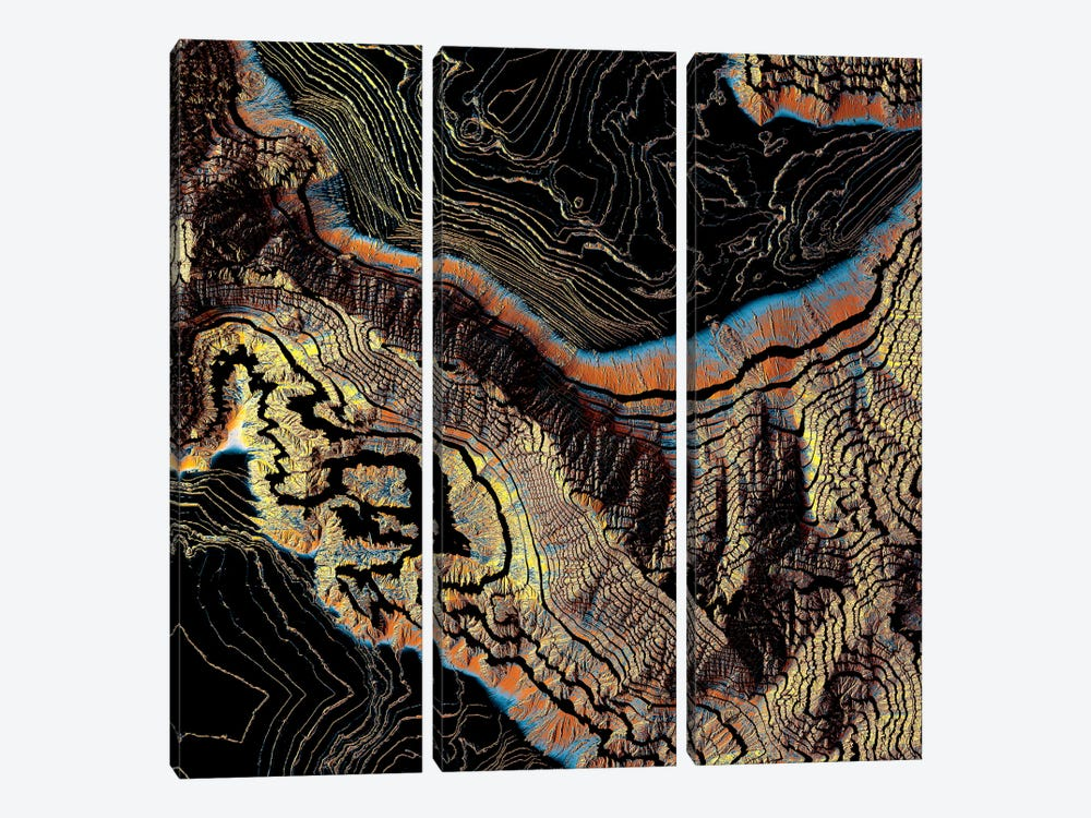 Golden Canyons by SpaceFrog Designs 3-piece Canvas Art Print