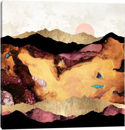 Mauve and Gold Mountains Canvas Art Print