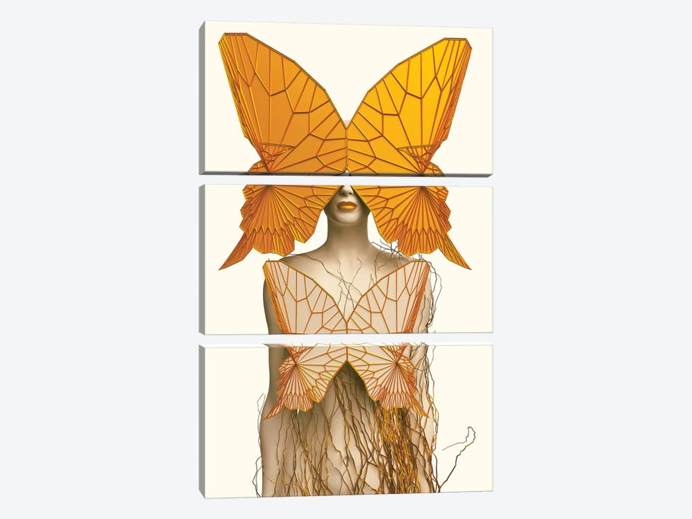 Transformation I by SpaceFrog Designs 3-piece Canvas Art Print