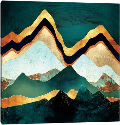 Velvet Copper Mountains Canvas Art Print