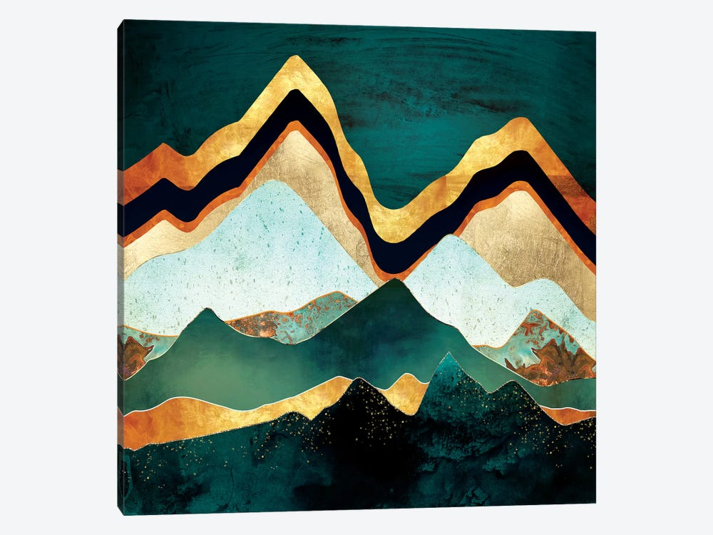 Velvet Copper Mountains by SpaceFrog Designs 1-piece Canvas Art Print
