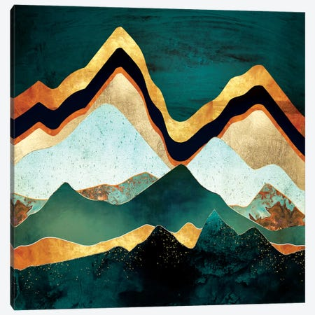 Velvet Copper Mountains Canvas Print #SFD167} by SpaceFrog Designs Canvas Print