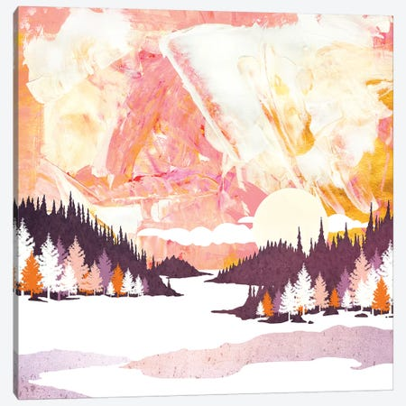Winter Abstract Canvas Print #SFD169} by SpaceFrog Designs Canvas Artwork
