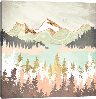 Winter Bay Canvas Art Print