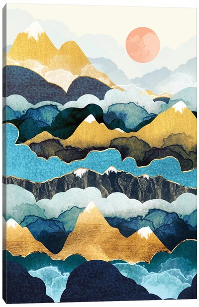 Cloud Peaks Canvas Art Print