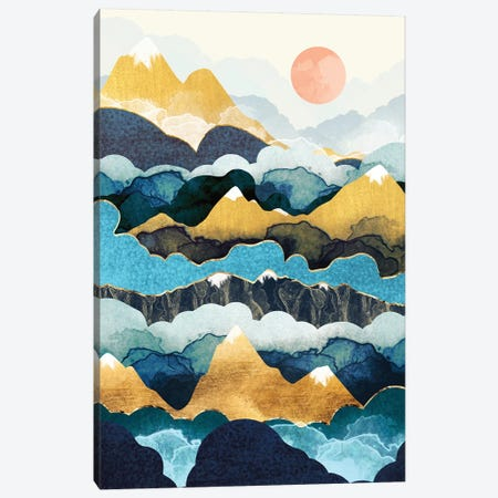 Cloud Peaks 3-Piece Canvas #SFD174} by SpaceFrog Designs Canvas Art