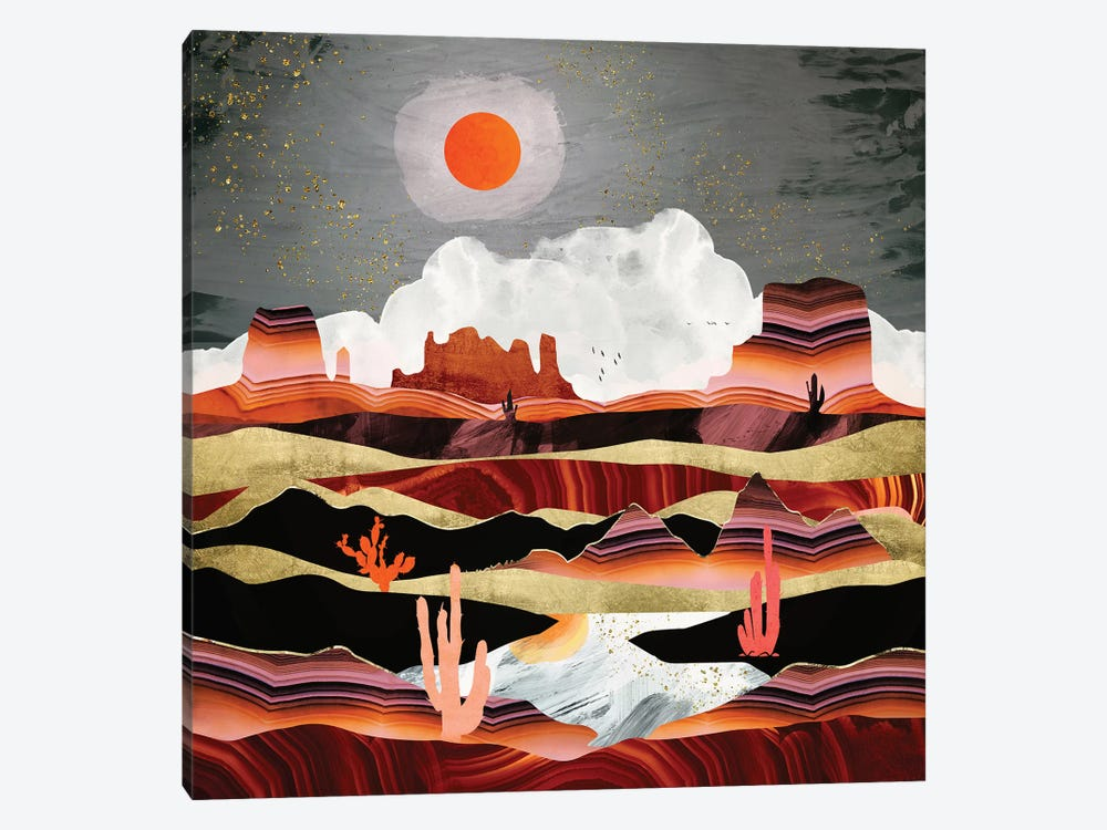 Coral Desert Lake by SpaceFrog Designs 1-piece Canvas Art Print