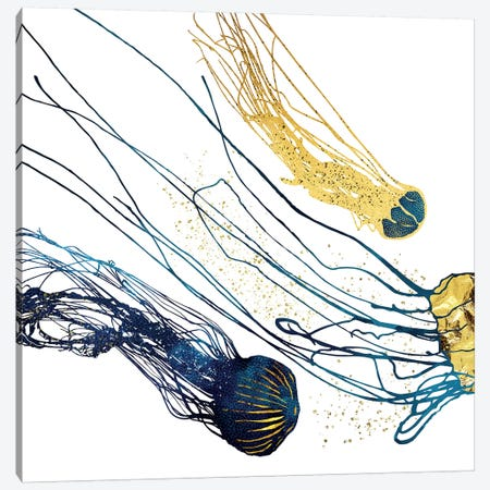 Metallic Jellyfish II Canvas Print #SFD184} by SpaceFrog Designs Art Print