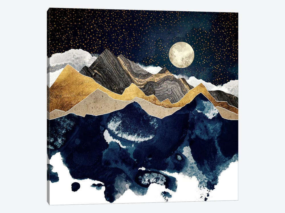 Midnight Winter by SpaceFrog Designs 1-piece Canvas Print