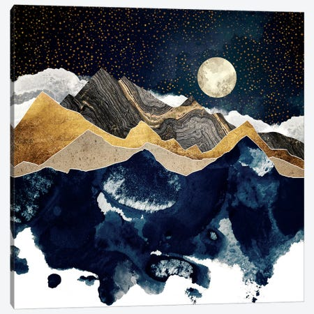 Midnight Winter Canvas Print #SFD185} by SpaceFrog Designs Canvas Art Print