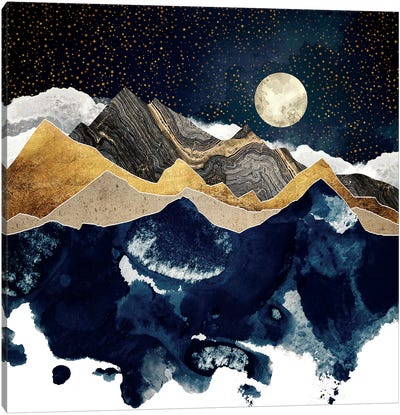 Midnight Winter Canvas Art Print